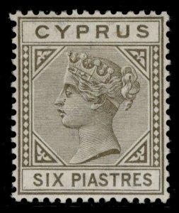 CYPRUS QV SG36, 6pi olive-grey, M MINT. Cat £250.