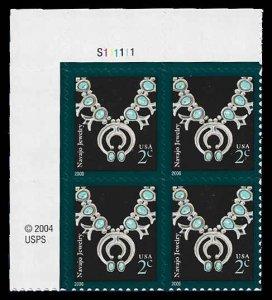 PCBstamps     US #3751 PB 8c(4x2c)Navajo Necklace, 2006, MNH, (PB-1a)