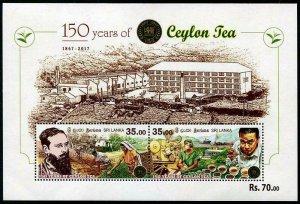 HERRICKSTAMP NEW ISSUES SRI LANKA Sc.# 2107c Ceylon Tea Souvenir Sheet