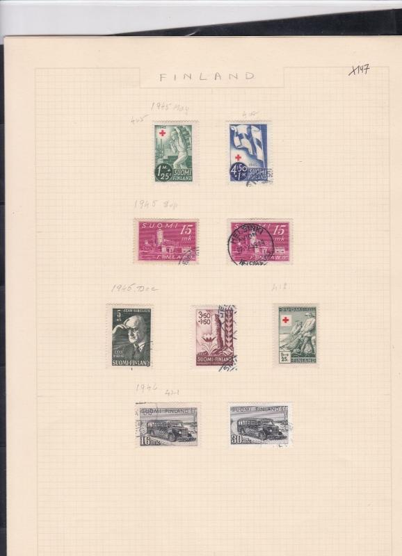 finland 1945-46  stamps page ref 18043