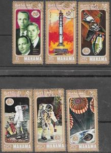 Manama 1971 Set of 6 Space.  Apollo 14