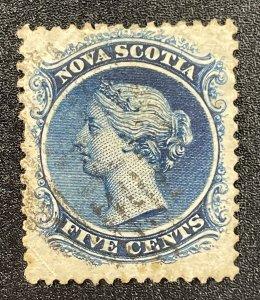 Nova Scotia (Canada) #10 Used (c1860-1863) Queen Victoria (SCV ~ $12)