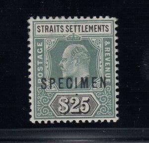 Straits Settlements, SG 139s, MHR Specimen Overprint
