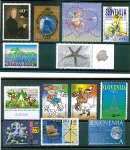 SLOVENIA mini collection of (21) recent commemoratives, MNH