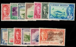 CAYMAN ISLANDS SG135-147, COMPLETE SET, NH MINT. Cat £80.