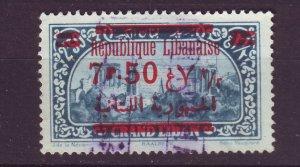 J24014 JLstamps 1928 lebanon used #99 ovpt