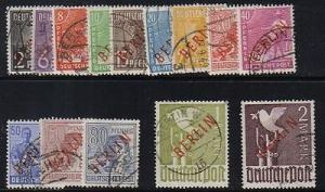 Berlin #9N21-34 Used  F-VF high values signed Bohn and Sc...