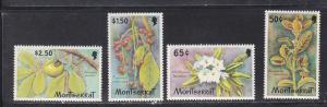 Montserrat # 480-483, Wild Flowers, NH, 1/2 Cat.