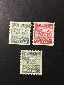 Sweden sc 374-376 MH comp set