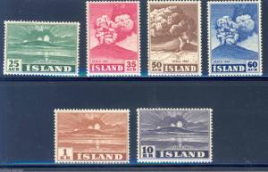 ICELAND SCOTT#246/52 MINT ORIGINAL GUM HINGED