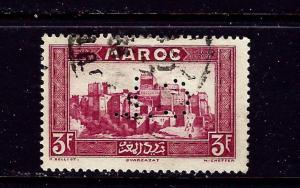 French Morocco 144 Used Perfin (CL) 1933 issue