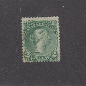 CANADA # 24 FVF-2cts LARGE QUEEN FACE FREE CANCEL CAT VALUE $60
