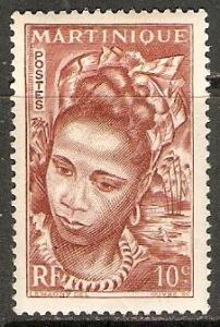 1947 Martinique Scott 217 Martinique Girl  MNH