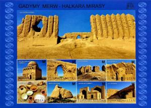Postage Stamps Turkmenistan Monuments of Architecture Collectible Exclusive #7