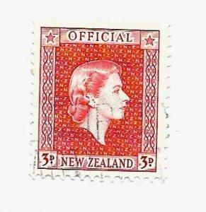 New Zealand 1954 - U - Scott #O103 *