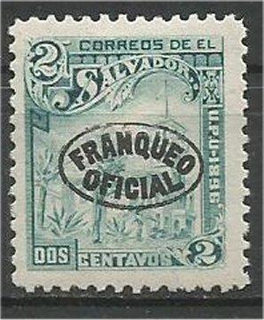 EL SALVADOR, 1896, MH 1c, Overprint Scott O25