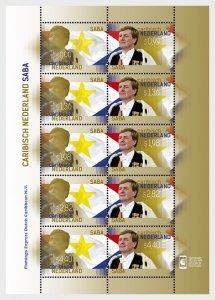 Stamps Caribbean Netherlands 2015. - King Stamp 2015 (Saba) - Sheet.