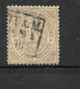 NORTH GERMAN CONFEDERATION  1869  18kr  BRISTRE  FU    Sc 23  SG 37