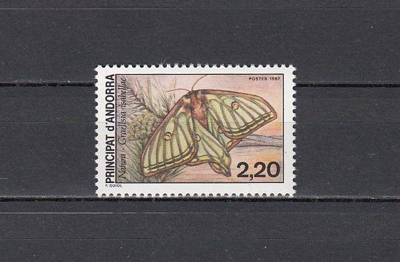 Andorra, French. Scott cat. 356. Moth issue.