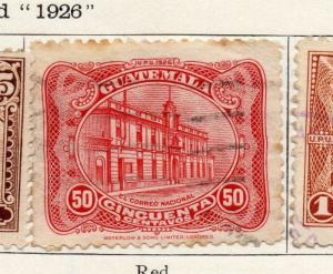 Guatemala 1926 Early Issue Fine Used 50c. 100944