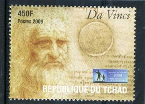 CHAD 2009 Leonardo Da Vinci 1 value Perforated mnh.vf