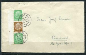 Germany 1937 Cover Dusseldorf Combination Mi 515-513-515  Hindenburg g1584s