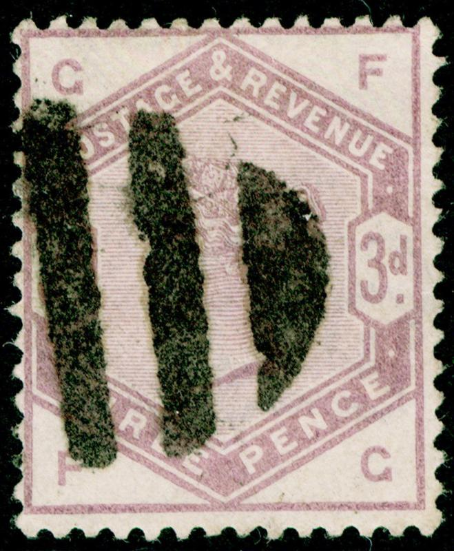 SG191, 3d lilac, USED. Cat £100. FG