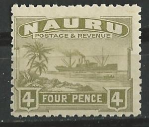 Nauru # 23a    Freighter Ship  4d.      (1)      Unused VLH