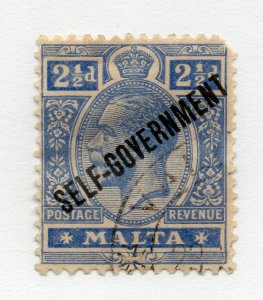 Malta - SG# 107 Cancelled w/gum / wmk crown CA  -  Lot 0320621