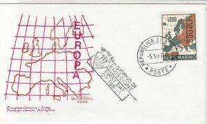 Europa San Marino 1961 San Marino Cancel Map Picture FDC Stamp Cover Ref 25943