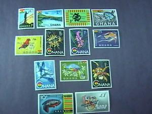 GHANA # 216-226 & C7-C8-MINT/NEVER HINGED-COMPLETE SET------QEII------1965
