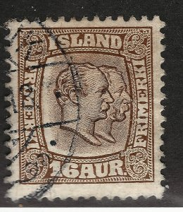 Iceland Attractive Sc#78 Used F-VF SCV $47.50...Key bargain!!