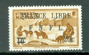ST.PIERRE & MIQUELON  FRANCE LIBRE #249...MNH...$14.50