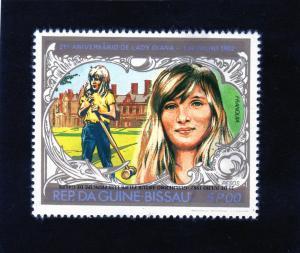Guinea-Bissau 1982 Mi.640A Royal Baby/Crocket/Diana  ovpt.INVERTED MNH VF