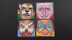 Great Britain 2001 Painted Faces of Children Used