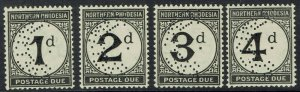 NORTHERN RHODESIA 1929 POSTAGE DUE SPECIMEN SET