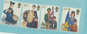 Great Britain Scott #983 To 986, Youth Organizations Issue From 1982 - Free U...