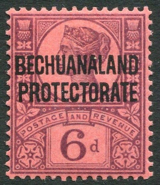 BECHUANALAND-1897-1902 6d Purple/Rose-Red Sg 65 LIGHTLY  MOUNTED MINT V20362