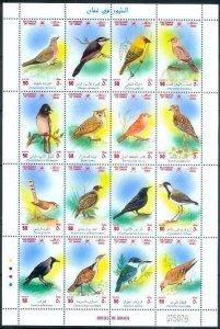 "Selten Oman 2002 ""Wild Vögel"" Hochwertig MNH Blatt Hard To Find"