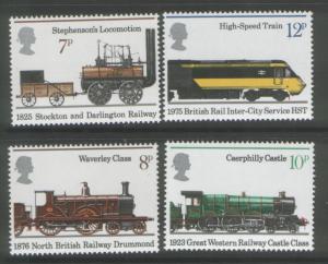 Great Britain MNH 749-52 Locomotives 1975