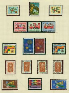 United Nations good general collection of sets, singles and sheetlets wil Stamps
