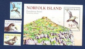 NORFOLK ISLAND - 679-682  - VF MNH - birds - 1999