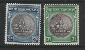 Bahamas a 2/- & 3/- MH from 1931 series