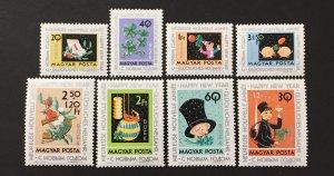 Hungary 1963 #1556-61,B235-6, New Year, MNH.