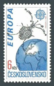 Czechoslovakia 2825,MNH.Michel 3084. EUROPE CEPT-1991.Space achievements.