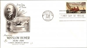 United States, Massachusetts, United States First Day Cover, Art