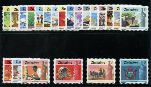 Rhodesia - Zimbabwe 1985 QEII Infrastructure set complete MNH. SG 659-680.