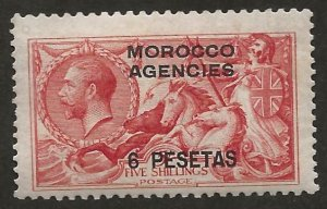 GREAT BRITAIN OFFICES - MOROCCO SC# 56a  FVF/MLH 1914