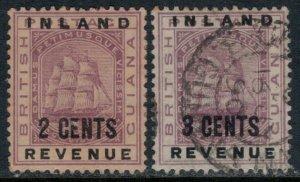 British Guiana #113-4  CV $3.40