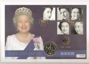 GB 2002 Golden Jubilee - £5 Coin Cover - Ltd Ed No. 07808